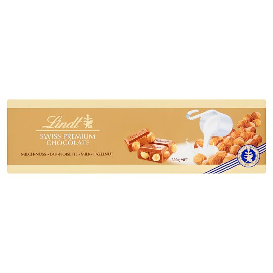 Lindt Swiss Premium Milk Chocolate with Whole Hazelnuts 300 g