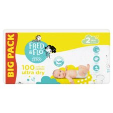 image 1 of Fred & Flo Ultra Dry 2 Mini 3-6 kg Nappies 100 pcs