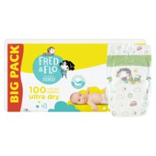 image 2 of Fred & Flo Ultra Dry 2 Mini 3-6 kg Nappies 100 pcs