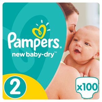 Pampers New Baby-Dry Size 2 (Mini) 3-6 kg, 100 Nappies