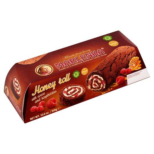 Marlenka Honey Roll with Cocoa and Raspberries 300 g