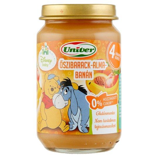 Univer Peach-Apple-Banana Dessert for Babies 4+ Months 163 g