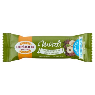 Cerbona Cocoa-Hazelnut Muesli Bar with No Added Sugar and Sweeteners 20 g