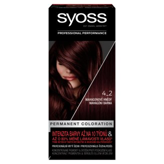Syoss 4-2 Mahogany Brown Permanent Hair Colorant