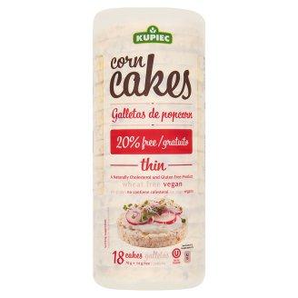 Kupiec Thin gluténmentes puffasztott kukorica keksz 84 g