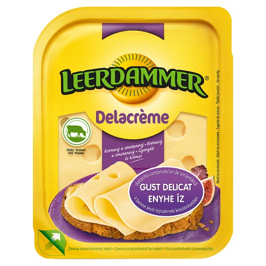 Leerdammer Delacrème Fat Semi-Hard, Sliced Cheese 125 g
