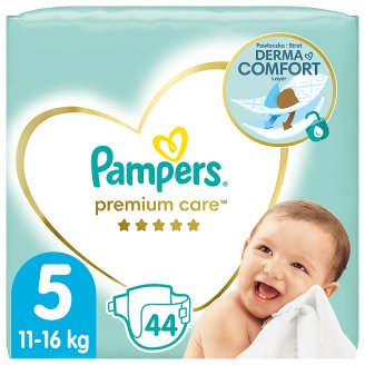 Pampers Premium Care, 5-ös Méret (Junior), 11–18 kg, 44 Darabos Kiszerelés