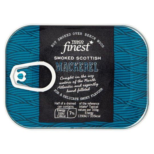 Tesco Finest csípős, füstölt makrélafilék napraforgóolajban 110 g