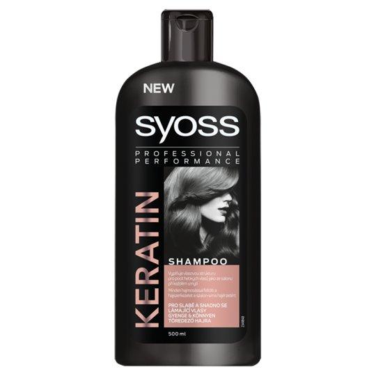Syoss Keratin Shampoo for Weak, Damaged Hair 500 ml