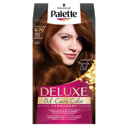 Schwarzkopf Palette Deluxe Intense Cream Hair Colorant 667 Mahogany Copper Red