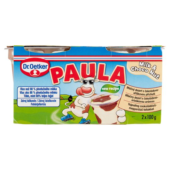 Dr. Oetker Paula Milk Pudding with Choco Nut Flavoured Pudding 2 x 100 g