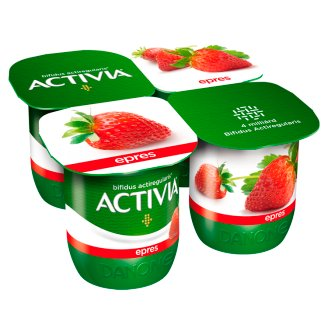 Danone Activia Strawberry Yoghurt with Live Cultures 4 x 125 g