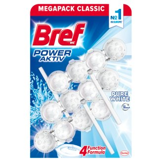 Bref Power Aktiv Pure White Toilet Block 3 x 50 g