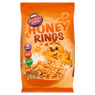 Breakfast King Honey Rings with Added Vitamins and Minerals 250 g