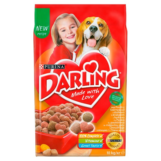 Darling Complete Pet Food for Adult Dogs with Poultry 10 kg