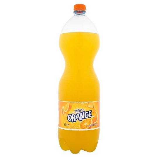 Tesco Orange Flavoured Carbonated Drink with Sugar and Sweeteners 2 L