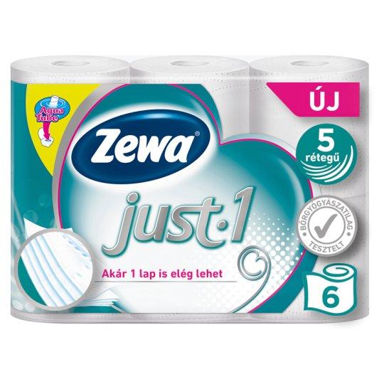 Zewa Just-1 toalettpapír 5 rétegű 6 tekercs