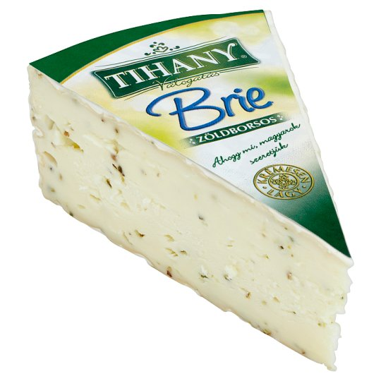 Tihany Válogatás Brie vágó zöldborsos sajt
