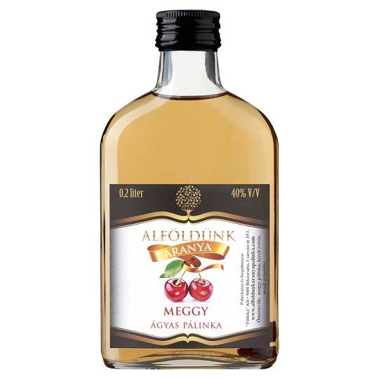 Alföldünk Aranya Sour Cherry Palinka on Fruit Bed 40% 0,2 l
