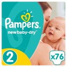 Pampers New Baby-Dry Size 2 (Mini) 3-6 kg, 76 Nappies