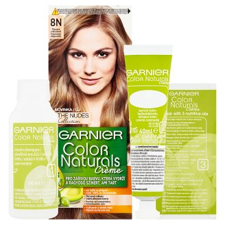 image 2 of Garnier Color Naturals Crème 8N Natural Light Blonde Nourishing Permanent Hair Colorant