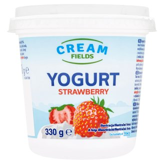 Cream Fields Low-Fat Strawberry Flavoured Yoghurt with Live Cultures 330 g