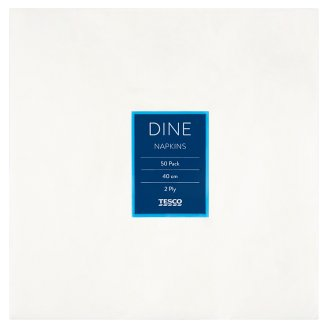 Tesco Dine Napkins 2 Ply 40 cm 50 pcs