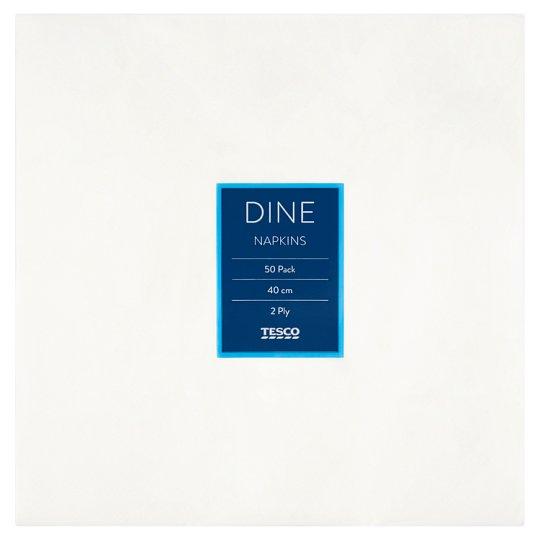 Tesco Dine szalvéta 2 rétegű 40 cm 50 db
