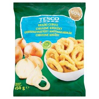 Tesco Quick-Frozen Breaded Onion Rings 450 g