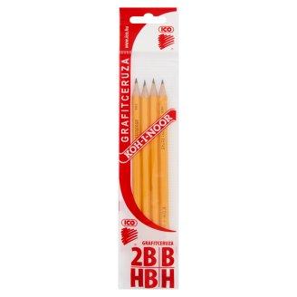 Ico KOH-I-NOOR H, HB, B, 2B grafitceruza 4 db