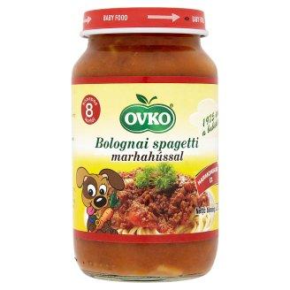 Ovko gluténtartalmú bolognai spagetti marhahússal bébiétel 8 hónapos kortól 220 g