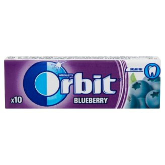 Orbit Blueberry Flavoured Sugar-Free Chewing Gum with Sweetener 10 pcs 14 g