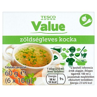 Tesco Value zöldségleves kocka 6 x 10 g