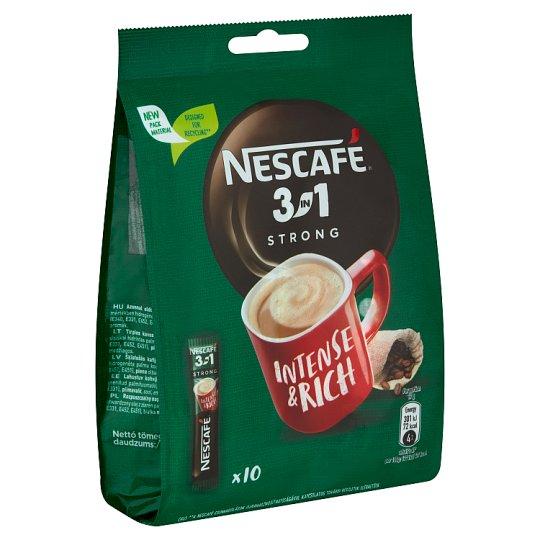 Nescafé 3in1 Strong azonnal oldódó kávéspecialitás 10 db 170 g