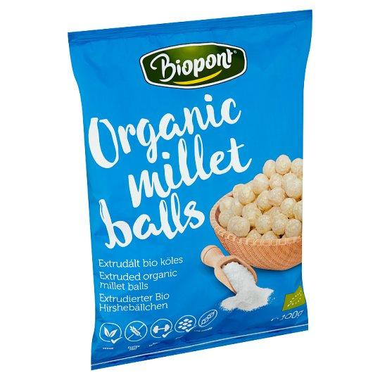 Biopont Organic Gluten-Free, Lightly Salted Millet Balls 100 g