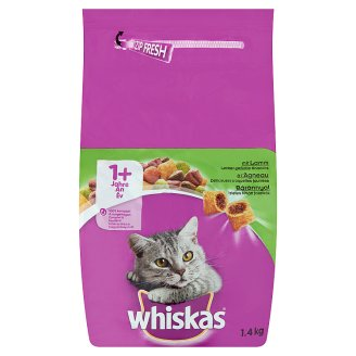 Whiskas Complete Pet Food for Adult Cats with Lamb 1,4 kg