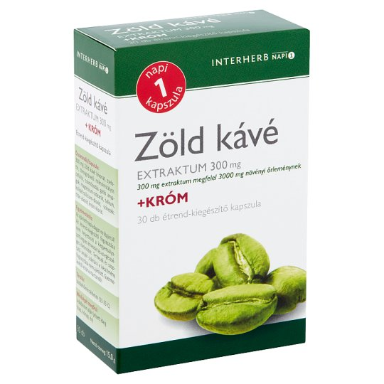 Interherb Napi1 Green Coffee Extract 300 mg + Chrome Supplement Capsule 30 pcs 15 g
