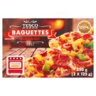 Tesco Quick-Frozen Tomato Baguettes with Cheese, Salami and Paprika on Top 2 x 125 g