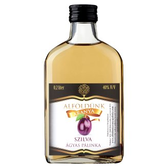 Alföldünk Aranya Plum Palinka on Fruit Bed 40% 0,2 l