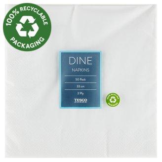 Tesco Dine Napkins 2 Ply 33 cm 50 pcs