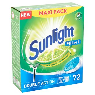 Sunlight All in 1 Double Action Dishwashing Tabs 72 pcs 1260 g