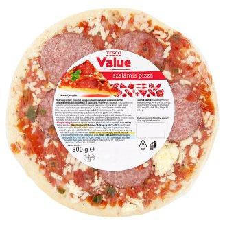 Tesco Value gyorsfagyasztott szalámis pizza 300 g