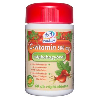 1x1 Vitaday Vitamin C 500 mg Tablets with Rose Hip 60 pcs