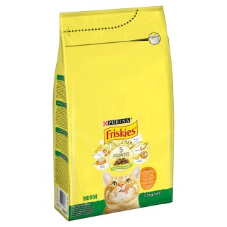 Friskies Indoor Cats Complete Pet Food for Adult Cats with Chicken-Vegetables 1,5 kg
