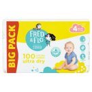 Tesco Fred & Flo Ultra Dry 4 Maxi 8-14 kg Nappies 100 pcs
