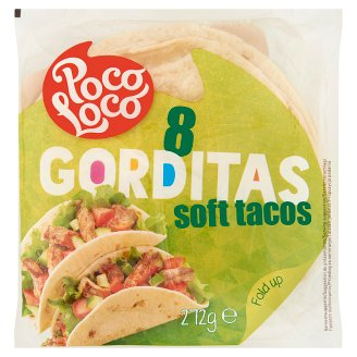 Poco Loco Gorditas Soft Tacos from Wheat Flour 8 pcs 272 g