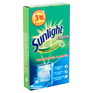 Sunlight Expert Dishwasher Cleaner 3 x 40 g