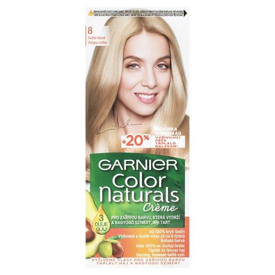 image 1 of Garnier Color Naturals Crème 8 Light Blonde Nourishing Permanent Hair Colorant