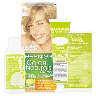 image 2 of Garnier Color Naturals Crème 8 Light Blonde Nourishing Permanent Hair Colorant