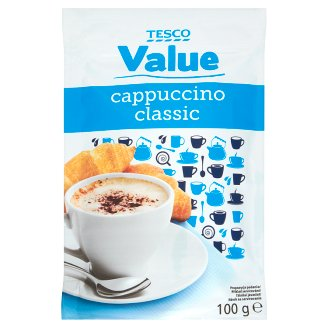 Tesco Value Cappuccino Classic Instant Coffee Drink 100 g